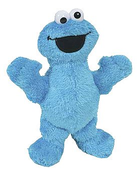 Micro Plush Pal Cookie Monster Figure by Hasbro