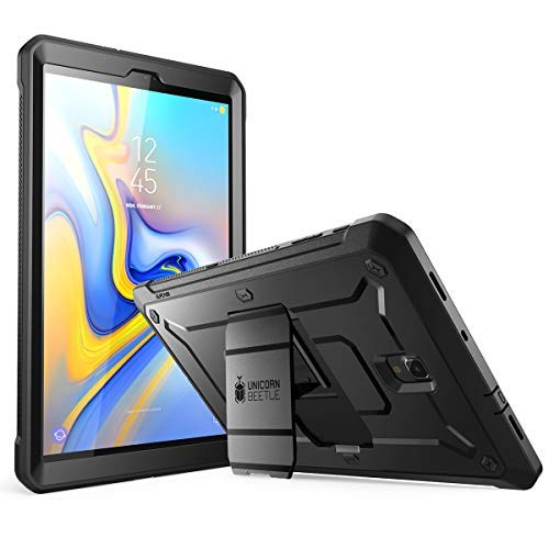 SUPCASE Full-body Rugged Case for Galaxy Tab A 10.5 with Built-In Screen Protector Kickstand Hybrid Case for Samsung Galaxy Tab A 10.5 (SM-T590/T595/T597) 2018 Release- Unicorn Beetle Pro (Black) (Galaxy Tablet Case Rugged)