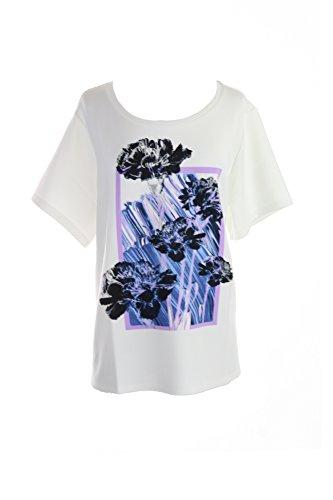 Print Matte Jersey Top (Style & Co. Womens Plus Matte Jersey Floral Print Pullover Top White 3X)