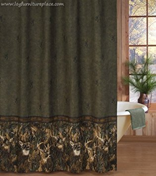 Browning Liner - Browning Bedding Whitetails Shower Curtain in Green
