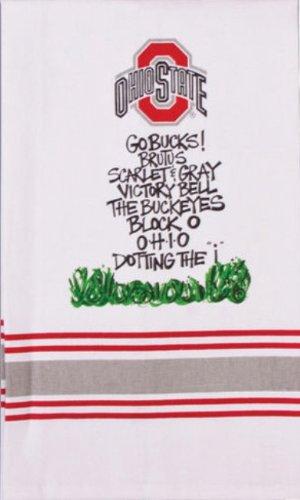 ohio state slogan hand towel amazon co uk kitchen home