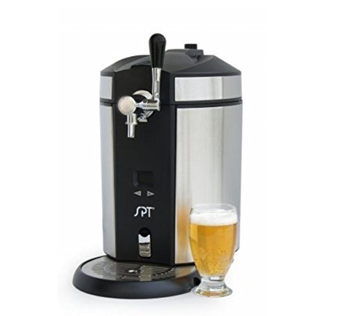 SPT BD-0538 Mini Kegerator & Dispenser, Stainless Steel (Spt 2-4 Cu Ft Compact Refrigerator Stainless Steel)
