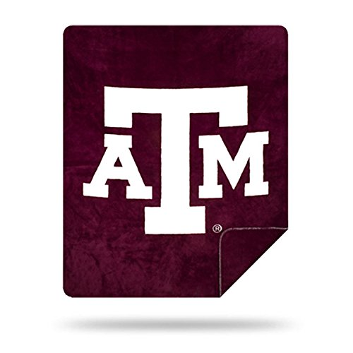 Officially Licensed NCAA Texas A&M Aggies Denali Silver Knit Throw Blanket, Aggie Maroon, 60