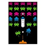 Space Invaders Decorative Single Toggle Light Switch Plate Cover