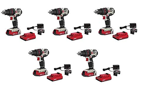 PORTER-CABLE PCC606LA 20-Volt 1/2-Inch Lithium-Ion Drill/Driver Kit (One Battery) ((5.Units))