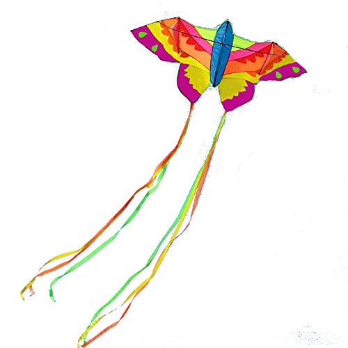 Kite,Flying Spring Toy Colorful Kites, Large Adult Kites, Breeze Easy to Fly (with Kite Reels) Kite line Wheel Puller Multi-Style Optional (Color : A)