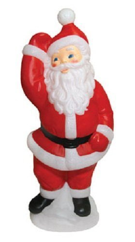 General Foam Painted Blow Mold Santa 40 by General Foam Plastics