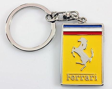 Ferrari Llavero Calidad cromo Llavero con caja de regalo ...
