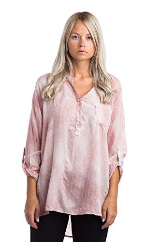 Abbino 68012 Blusas Tops para Müjer - Hecho en ITALIA - 7 Colores - Verano Otoño Invierno Mujeres Femeninas Elegantes Formales Camisas Manga Larga Casual ...