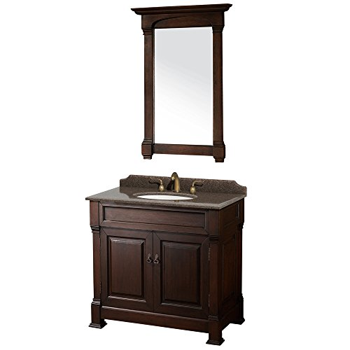 Wyndham Cherry (Wyndham Collection WCVTRAS36SDCIBUNOM28 Andover Vanity, Dark Cherry)