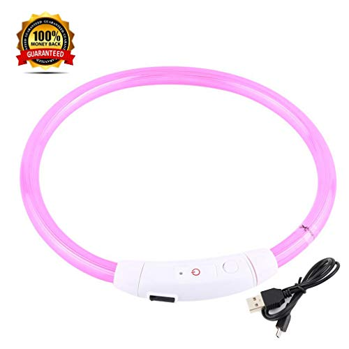 FuYUAN Glowing Collar%EF%BC%8Cpet Rechargeable Cutable