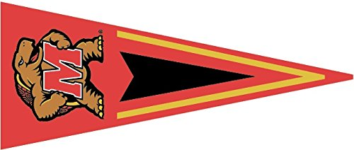 8 inch University of Maryland Pennant Flag Terps UM Terrapins Logo Removable Wall Decal Sticker Art NCAA Home Room Decor 8 1/2 by 3 1/2 inches]()