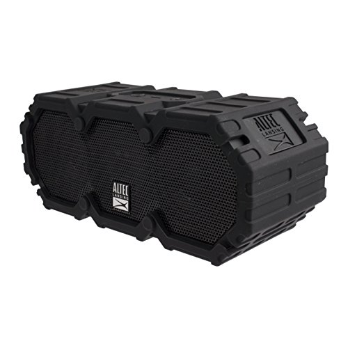 Altec Lansing IMW577-BLK Lifejacket 2 Bluetooth Speaker, IP67 Waterproof, Shockproof, Snowproof, Everything-Proof Rating, 30-Foot Range, 16 Hours Of Battery Life, Black