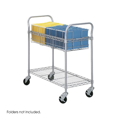 Safco Products 5236GR Wire Mail Cart, Legal Size, Gray by Safco Products