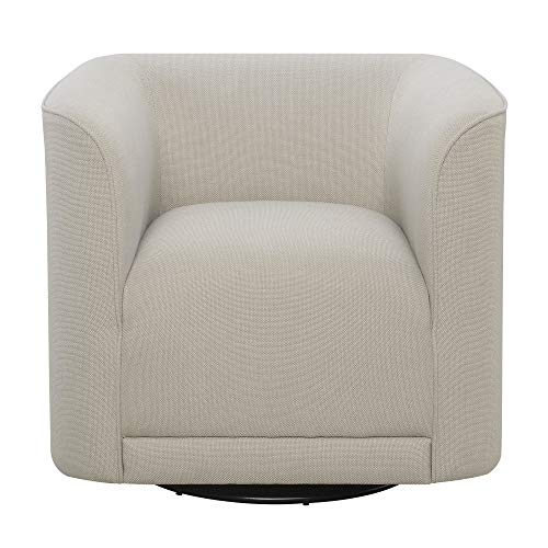 Juno Swivel Accent Chair in Cream with 360° Swivel And U Shape, by Artum Hill