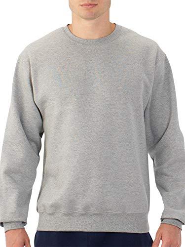 Fruit of the Loom Mens Crew Sweatshirt (Steel Grey Heather, X-Large)