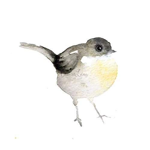 amazon com handmade original art watercolor yellow chat bird