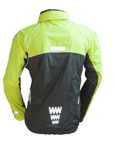 Wowow Urban Rain - Giacca fluorescente, taglia XL, colore: Giallo/Grigio scuro