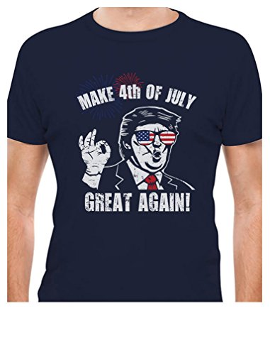 Donald Trump Make 4th of July Great Again T-Shirt X-Large Navy