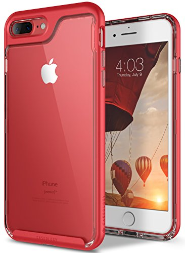 iPhone 7 Plus Case, Caseology [Skyfall Series] Transparent Clear Slim Scratch Resistant Protective Cover Air Space Technology [Red] for Apple iPhone 7 Plus (2016)