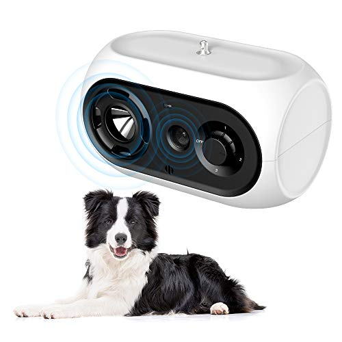 Sumao Dog Bark Control Device, Dog Barking Deterrent Devices Anti Bark Device Stop Barking Device, 3 Adjustable Level…