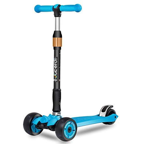 Patinete para niños, ruedas extendidas, plegable, 4 vueltas ...