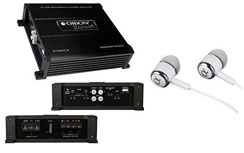 Orion ZT1200.2 ZTREET Series 2-Channel 1200W Max Class-AB Car Stereo Speaker Multi Channel Amplifier/Free ALPHASONIK Earbuds
