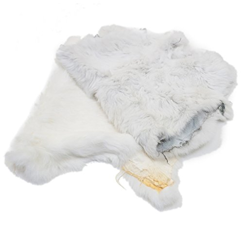 Springfield Leather Company Natural White Craft Grade Rabbit Fur Pelt