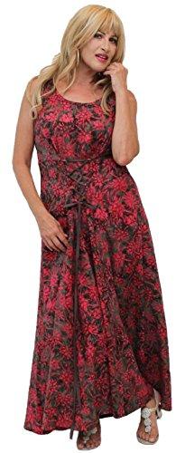 Brown Batik Damen Lotustraders Maxi Faltenschnürung Mit Kleid Umgekehrte
