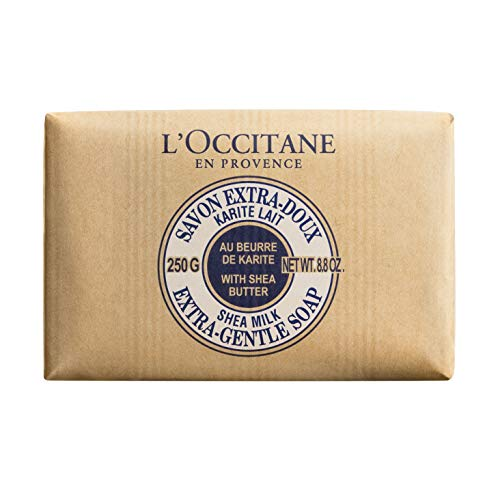 L'Occitane Extra-Gentle Vegetable Based Soap Enriched with Shea Butter - Milk, Net Wt. 8.8 oz.
