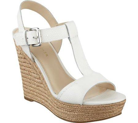 UPC 889915113254, Marc Fisher Women's Harlei Espadrille Wedge Sandal,Ivory Leather,US 7 M
