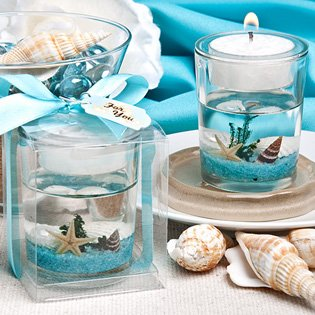 Stunning beach themed candle favor 72