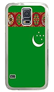 Samsung Galaxy S5 Turkmenistan Flag PC Custom Samsung Galaxy S5 Case Cover Transparent