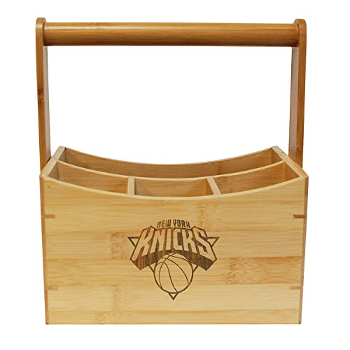 Coopersburg NBA New York Knicks Bamboo Utensil Caddy by Coopersburg
