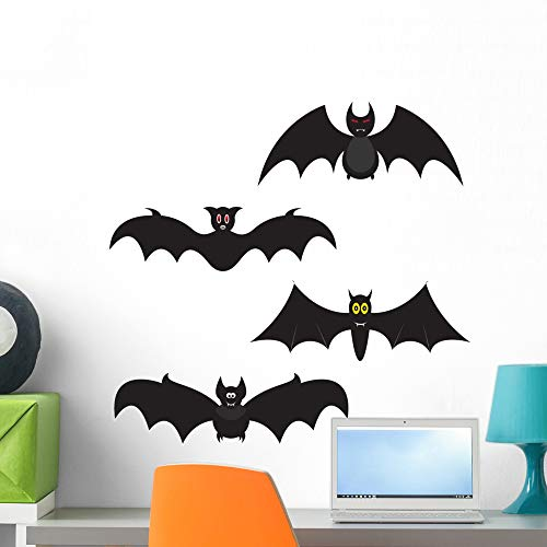 Wallmonkeys Set Halloween Bats Wall Decal Sticker Set Peel and Stick Graphic (24 in H x 24 in W) WM195256]()