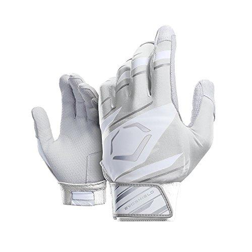 EvoShield Protective Speed Stripe Batting Gloves, White/Grey, X-Large