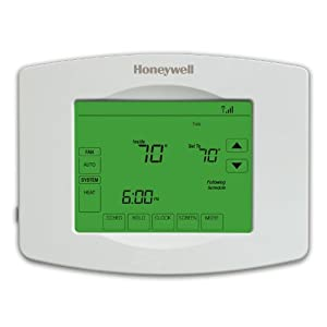 Honeywell RTH8580WF 7 Day Wi-Fi Programmable Touchscreen Thermostat, White