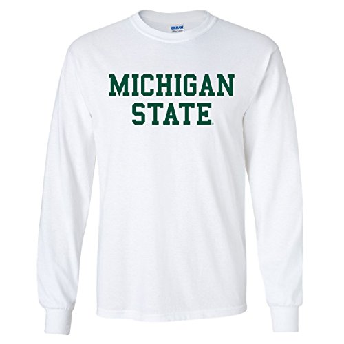 (AL01 - Michigan State Spartans Basic Block Long Sleeve â€