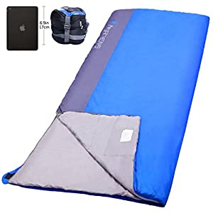 NORSENS Compact UltralightLightweight Sleeping Bag For Camping Backpacking Hiking Outdoor 20 Degree Celsius Sleeping Bags For AdultsXLBlue