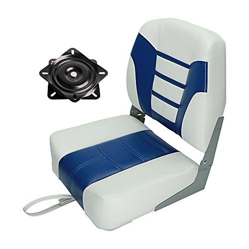 MSC Folded Boat Seat (AB-White/Blue)