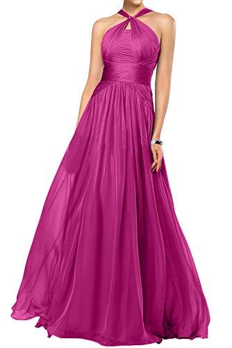Fashion Lang Festkleider Bride Rabatte Gorgeous Abendkleider Empire Chiffon Fuchsia Ballkleider XqCn5U