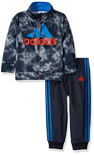 Adidas Toddler Boys' Tricot Jacket and Pant Set, Dark Grey, 2T (Pant Tricot)