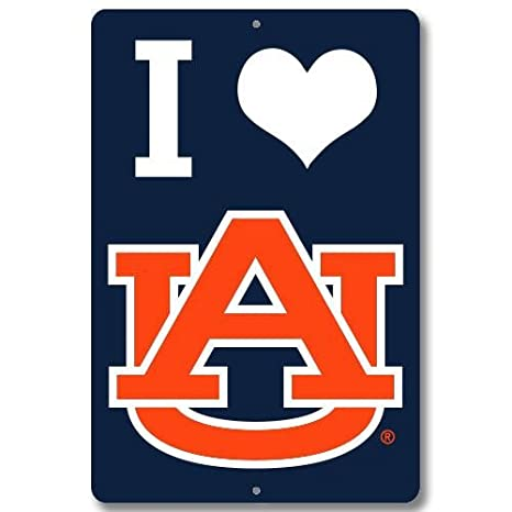 amazon com jay mac sports ncaa auburn tigers i love metal sign rh amazon com Auburn Tigers Logo Wallpaper Auburn Tigers Wallpaper