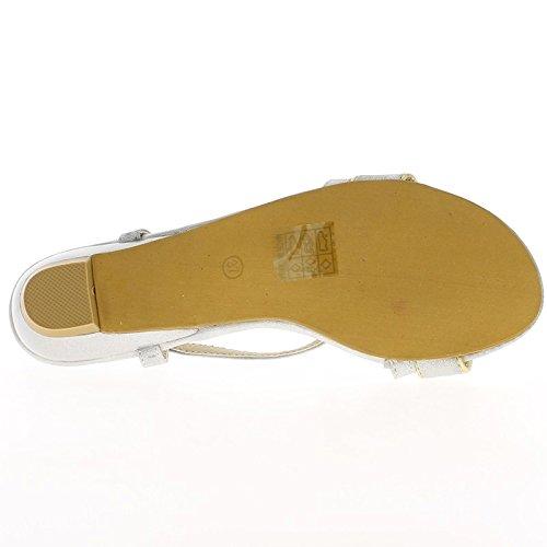 Tacco di spessore piccolo sandali verde 3,5 cm con strass