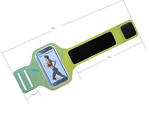 meres Deportes Correr Brazalete Soporte de Funda para iPhone 6 6S (4.7 pulgadas) fabricado en Premium Licra, capa de sudor, tiras reflectantes y llave ranura-verde verde