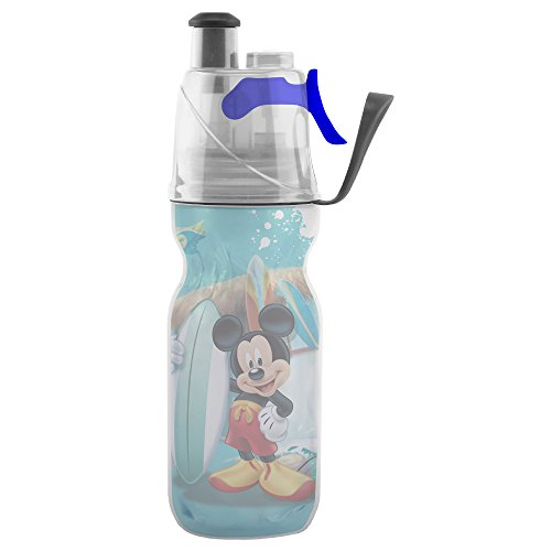 Mickey Disney Mouse 12 (O2COOL Licensed ArcticSqueeze Insulated Mist 'N Sip Squeeze Bottle 12 oz., Mickey Mouse)
