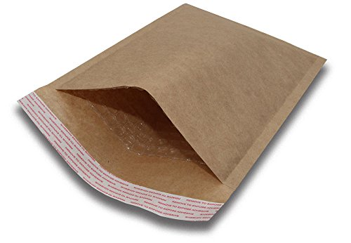 (#000 4x8 Padded Envelopes Kraft Bubble Mailers Small Bubble Envelopes 500pcs by BravoPack)