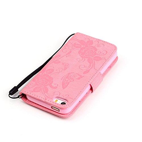 iPhone 6S Étui Housse, Coque en cuir iPhone 6S, emaxelers iPhone 6S, iPhone 6, iPhone 6S Housse en cuir flip case housse Multicolore Painted Wallet Case Étui à rabat en cuir synthétique Bookstyle Skin