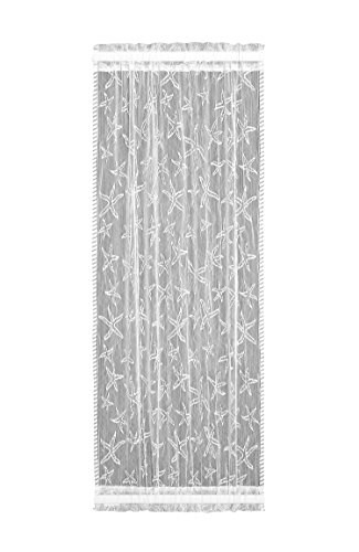 Heritage Lace Starfish Sidelight Panel, 15 by 63-Inch, White (Window Beachy Treatments)