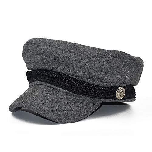 Women French Beret Stylish Newsboy Cap Cotton Greek Fisherman Sailor Fiddler Driver Hat Flat Cap